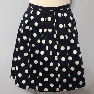 NWT! Navy Blue Polka Dot Skirt